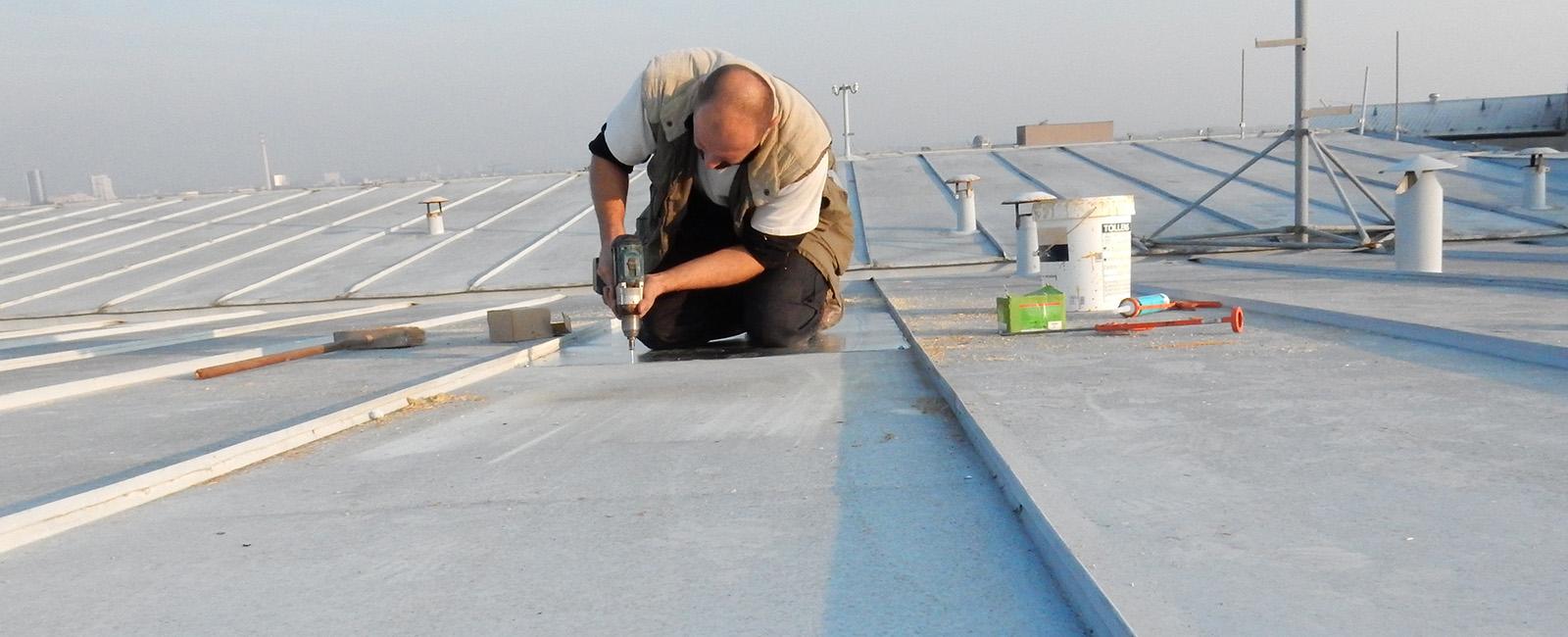 oprava plechove strechy