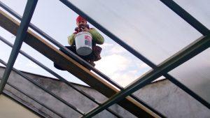 oprava světlíku z podhledu